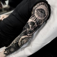 Sleeve tattoo by Otheser Dsts