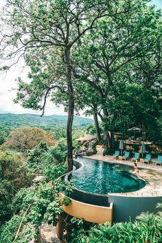 Traumpool. Schwimmen über den Urlaub. Ein wunderschönes Hotel in Costa Rica - die Largata Lodge.