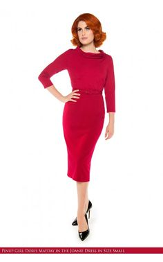 Laura Byrnes California- Joanie Dress in Red | Pinup Girl Clothing