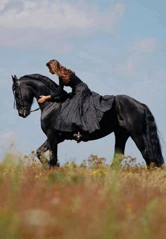 To me the sight of a full skirt covering a horses back is a highly sensuous seen. The modern version, a woman embracing her feminine in a performance car, truck, or on a motorcycle (dressed in riding gear) has the same attraction.