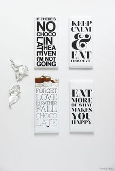 Descargable gratuito: mensajes para chocolatinas