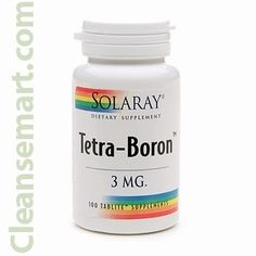 Tetra Boron, Solaray Tetra Boron 3mg 100 ea