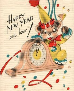 Vintage New Year Card Vintage Happy New Year, Happy New Years Eve, Happy New Year 2019, Vintage Holiday, Holiday Fun, Winter Holiday, New Year Greeting Cards, New Year Greetings, New Year Card