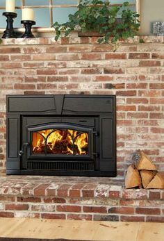 fireplaces with wood burning stove inserts - Google Search
