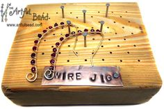 Make Your Own Wire Jig & Earrings - Lindsay Wisecup www.artfulbead.com $45.00 #jewelrymaking #class