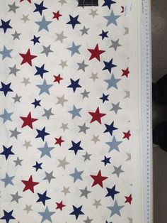 MULTI STARS Furnishing Fabric in Blue & Red - 2530mm 100% Cotton