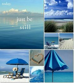 Just be still Collage mood board Collages, Color Collage, Mood Colors, Beautiful Collage, I Love The Beach, Jolie Photo, Beach Cottages, My Happy Place, Mood Boards