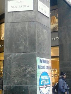 Milan, San Babila sq. , 2nd Jan. 2013