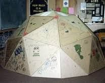 dome from triangles corrugated cardboard - Google Search