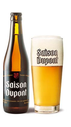 """Saison Dupont Vieille Provision Unfiltered Belgian Farmhouse Ale """"special dry hopped version of brewery's world-famous Saison Dupont"""" Brasserie Dupont, Tourpes, Belgium June 2014 Homebrew Recipes, Beer Recipes, Wine And Liquor, Wine And Beer, Beer Brewing, Home Brewing, Farmhouse Ale, Beer Shop, Dupont"""