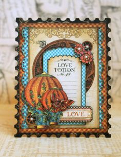 Card: Love *Graphic 45 & Cards and Scrap*