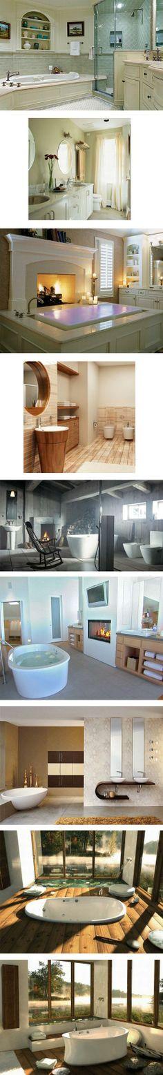 Benzersiz Banyo Dekorasyonları...idk what that means but love love love the spaces