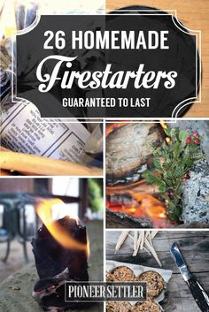 How to Build a Fire - 26 Firestarting Tricks | Homesteading DIY Project by Pioneer Settler http://pioneersettler.com/how-to-build-a-fire-firestarting/