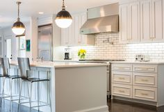 Transitional Kitchen . Viking