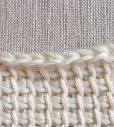 Tunisian Crochet Basics - Crochet Tutorials - Knitting Crochet Sewing Embroidery Crafts Patterns and Ideas! Crochet Fabric, Crochet Crafts, Easy Crochet, Crochet Hooks, Knit Crochet, Lace Knitting, Crochet Afghans, Tunisian Crochet Patterns, Crochet Granny