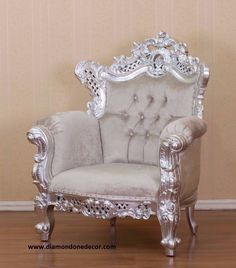 """Budreau"" Fabulous Baroque French Reproduction Louis XVI Chair"
