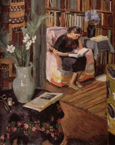 """Interior with the Artist's Daughter"", c. 1935-1936 / Duncan Grant (1885-1978) / Collection Dick Chapman and Ben Duncan"