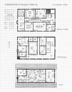Perkins' Map Sketch For CURSE OF STRAHD's Burgomaster's Mansion