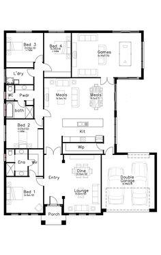 Davinci - Dechellis Homes 4 Bedroom House Plans, Basement House Plans, New House Plans, Dream House Plans, House Rooms, House Floor Plans, Australian House Plans, Beautiful House Plans, Barn Renovation
