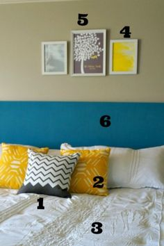 cute easy to make headboard for a king size bed #diy #headboard #bedroom