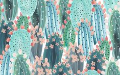 cacti-pattern desktop wallpaper designlovefest