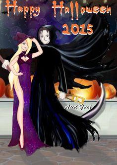 SaiIno Dibujo Halloween Ino Bruja, Sai La muerte