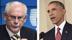 Finance, energy & defense sectors: EU and US set to impose new Russia sanctions. EU Council President Herman Van Rompuy (left) and US President Barack Obama (AFP Photo / John Thys / Saul Loeb)