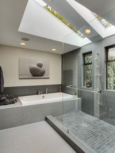 zen bathroom with soothing lines and colors