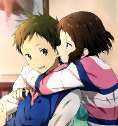 #anime , Hyouka : Satoshi Fukube and Mayaka Ibara