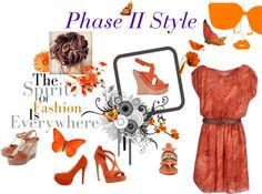 """CHEEKY ORANGE"" by pamela-singley on Polyvore"