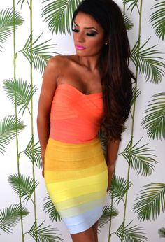 DRESS: http://www.glamzelle.com/collections/whats-glam-new-arrivals/products/chic-rainbow-love-bandage-strapless-dress