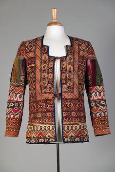 Multicolored embroidered jacket with mirrorwork (shisha). Rajasthan region of northwest India, Ca. 1900-1925. KSUM 1983.1.943