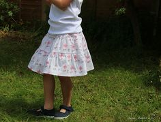 "pattern ""p – Tiered Skirt"" from the book ""Sew Chic Kids"" size 100cm"