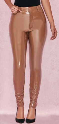 House of CB Stretch Vinyl Trousers Pvc Leggings, Vinyl Leggings, Wet Look Leggings, Leggings Are Not Pants, Pantalon Vinyl, Disco Pants Outfit, Vinyl Trousers, Latex Pants, Vinyl Clothing