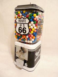 vintage Acorn gumball machine Route 66