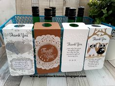 WEDDING FAVOR WINE BOTTLE TAG & LABEL IDEA WITH STAMPIN' UP!