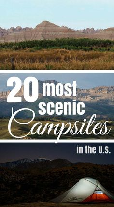 Do you want to go camping with a spectacular view on your next U.S. road trip? Then these most scenic campsites in the USA will help you! Find the perfect campground for your next trip!