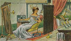 Illustrations by French artist Villemard in 1910 of how he imagined the future to be in the year 2000.