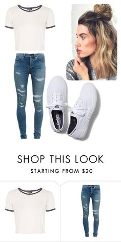 """""""casual"""" by arielmoore67 ❤ liked on Polyvore featuring Topshop, Yves Saint Laurent and Keds"""