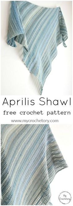 Add some style to you outfit and crochet your own Aprilis Shawl. It is an asymmetrical and modern shawl perfect for sport and fingering weight yarn, excellent for a spring and summer warmer wather that. Easy and beginner friendly free crochet pattern on my blog WWW.mycrochetory.com