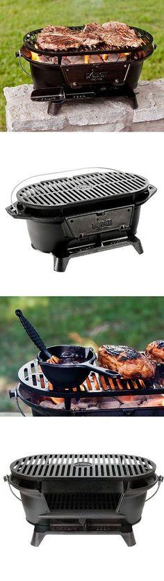 Camping BBQs And Grills 181388: Hibachi Cast Iron Grill Charcoal Portable  Charcoal Camping Hiking Cookout Bbq  U003e BUY IT NOW ONLY: $78.99 On EBay!