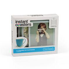 DIY-Untersetzer �Instant Coasters� f�r Deine Fotos. 4er Pack.