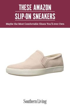 Function meets fashion with slip-on sneakers, which, we're happy to report, are on-trend for 2021. We've sifted through over a hundred pairs of slip-on sneakers on Amazon to provide you with a round-up of the 15 best sneakers. Slip into style in the pair of sneakers that best suits your lifestyle. #amazonfinds #summerfashion #bestsliponshoes #amazonfashion #southernliving Southern Fashion, Southern Style, Best Sneakers, Slip On Sneakers, Most Comfortable Shoes, Cool Suits, Fashion Beauty, Pairs, Amazon