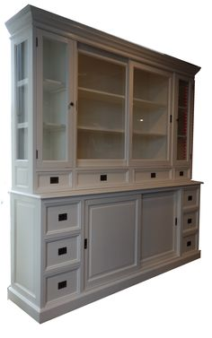 Buffetkast Eelde wit Dining Room Dresser, Deco Buffet, Decoration, Furniture Makeover, China Cabinet, Cupboard, Painted Furniture, Armoire, Living Spaces
