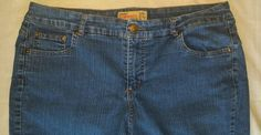 Womens Just My Size JMS Stretch Classic Denim Blue Jeans Size 18w Short #JustMySize #BootCut