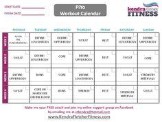 Getting Started With Piyo  Free Printable Piyo Workout Calendar