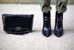 I wish!  Lovely boots and bag.
