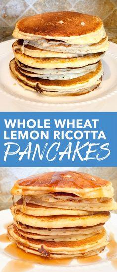 Whole Wheat Lemon Ricotta Pancakes | the blissful balance