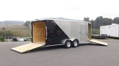 7x22 Enclosed V-Nose Drive In Drive Out Car Hauler   Pro-Line Trailers