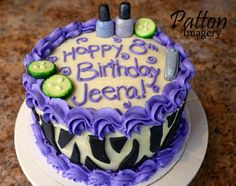 Jeera's 8th birthday cake - Spa theme